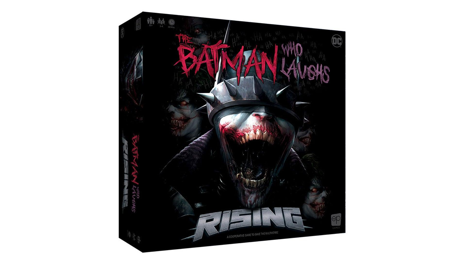 The Batman Who Laughs Rising board game artwork