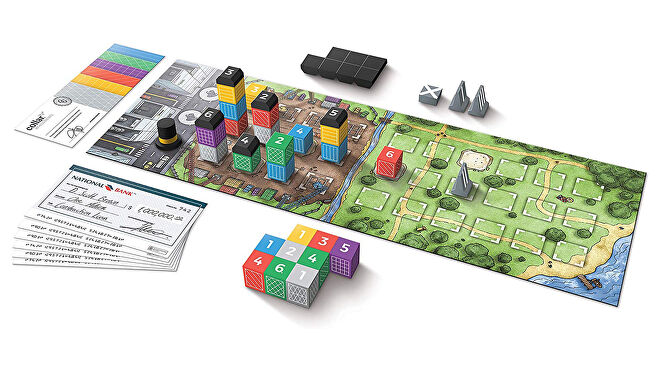 The Estates board game gameplay layout