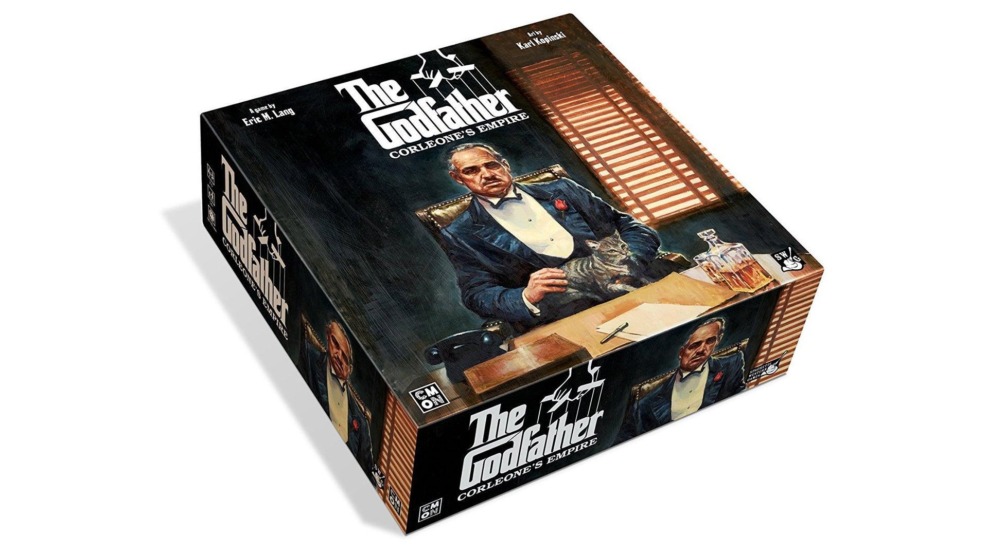 The Godfather: Corleone's Empire movie board game box