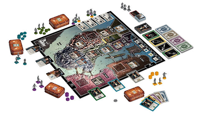 The Godfather: Corleone's Empire movie board game gameplay layout