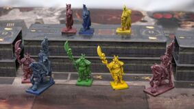 The Great Wall prototype board game miniatures