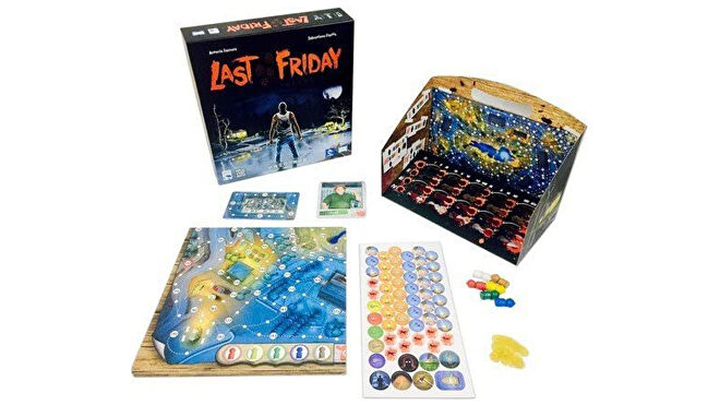 The Last Friday board game layout