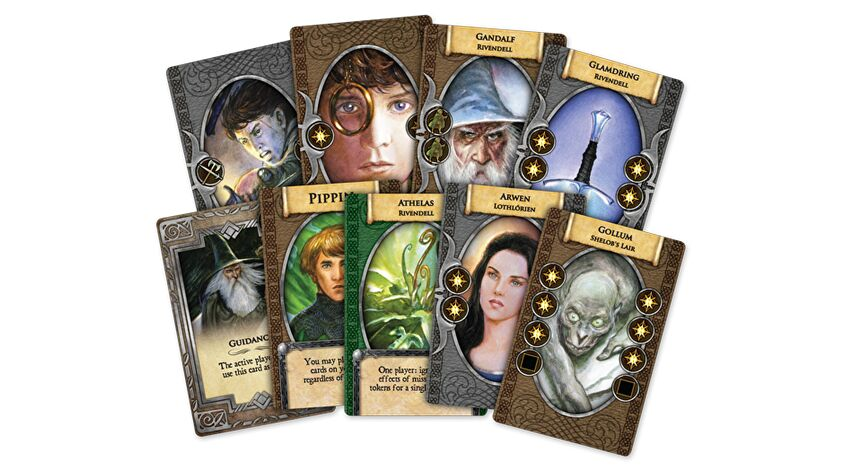 The Lord of the Rings: The Board Game Anniversary Edition cards