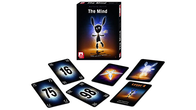 The Mind co-op board game box and cards