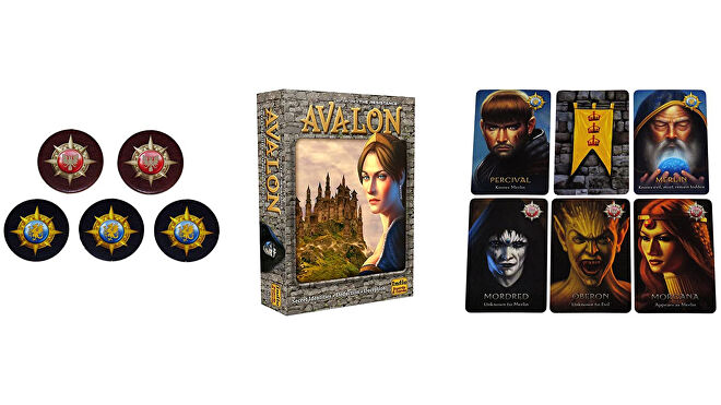 The Resistance: Avalon board game layout