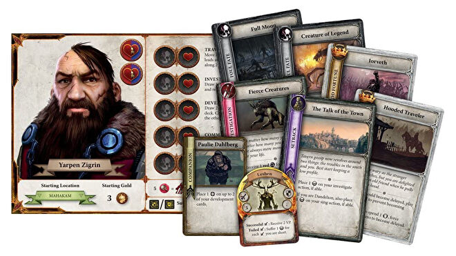 The Witcher: Adventure Game board game cards