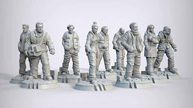 This War of Mine: The Board Game miniatures