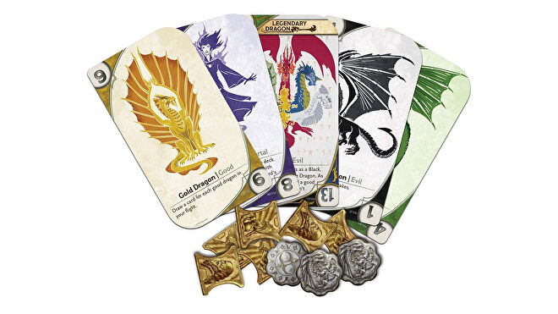 Three-Dragon Ante: Legendary Edition board game card fan