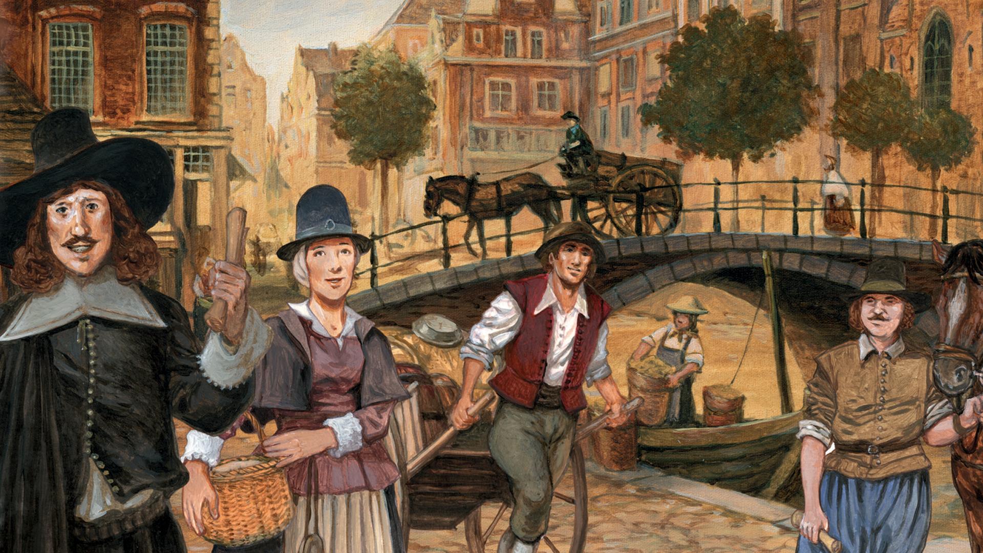 Ticket to Ride: Amsterdam board game artwork
