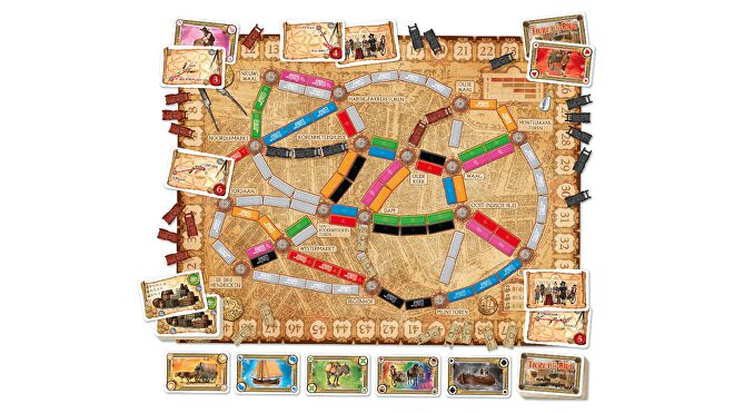 Ticket to Ride: Amsterdam board game layout