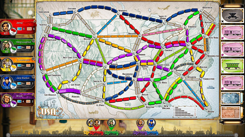 Ticket to Ride digital board game version