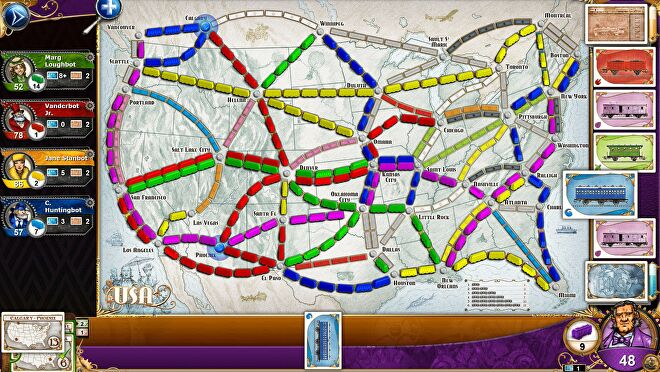 Ticket to Ride digital board game