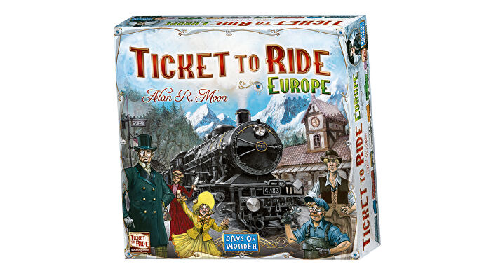 Ticket to Ride: Europe board game box