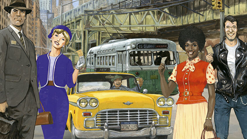 Ticket to Ride: New York family board game box artwork