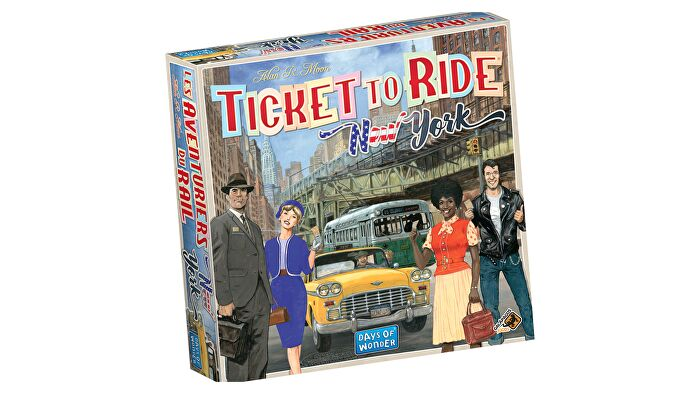 Ticket to Ride: New York family board game box