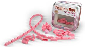 Image for Ticket to Ride gets a set of pink trains to benefit breast cancer research charity