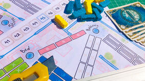 Ticket to Ride: Stay at Home board game layout