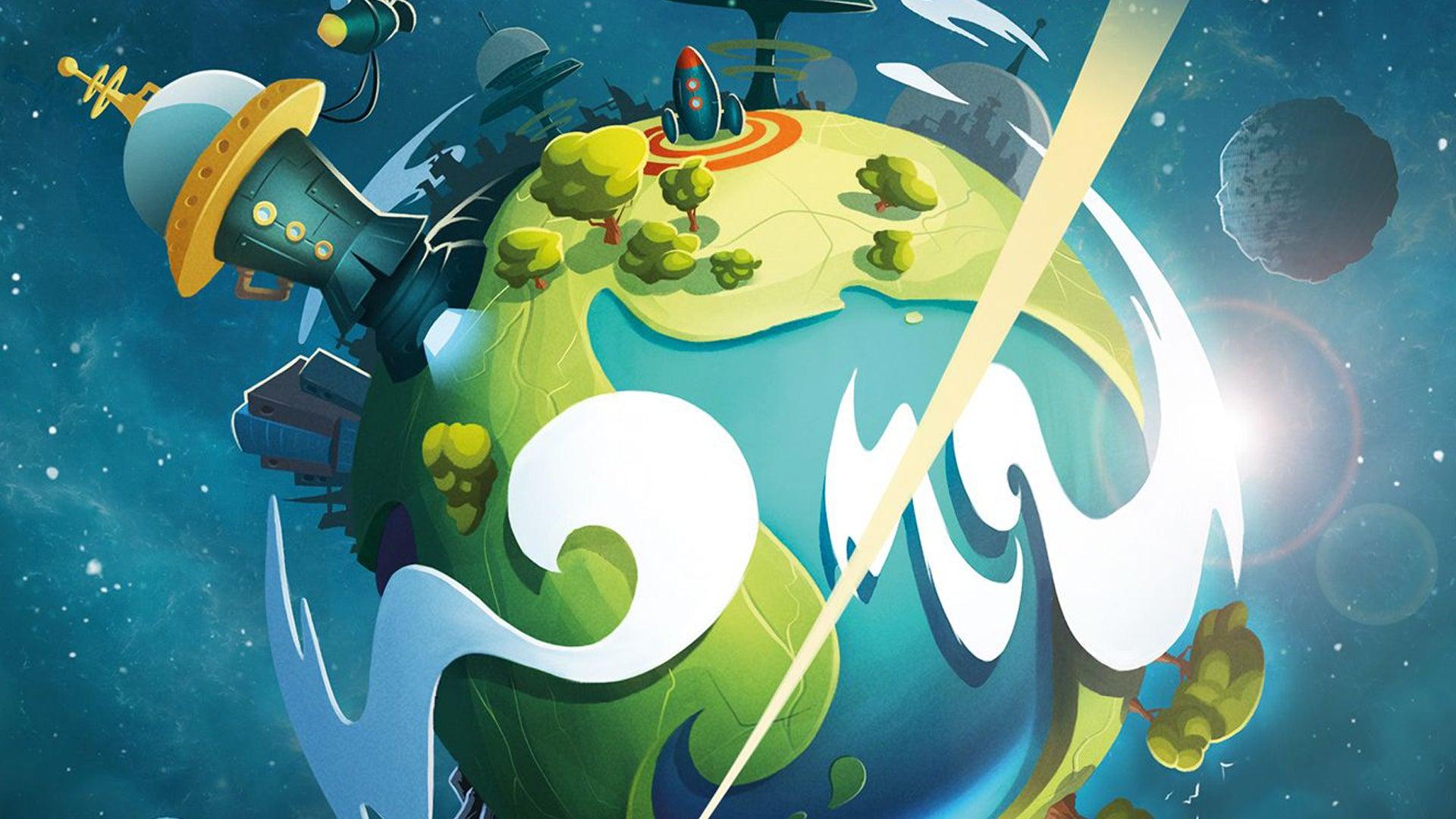 Tiny Epic Galaxies Blast Off! board game artwork