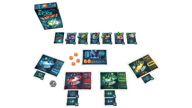 Tiny Epic Galaxies Blast Off! board game layout