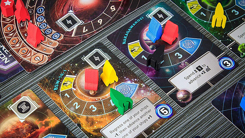 Tiny Epic Galaxies board game layout