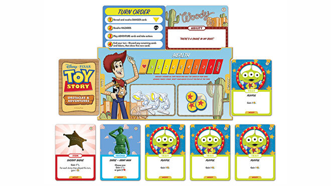 Toy Story: Obstacles and Adventures board game layout