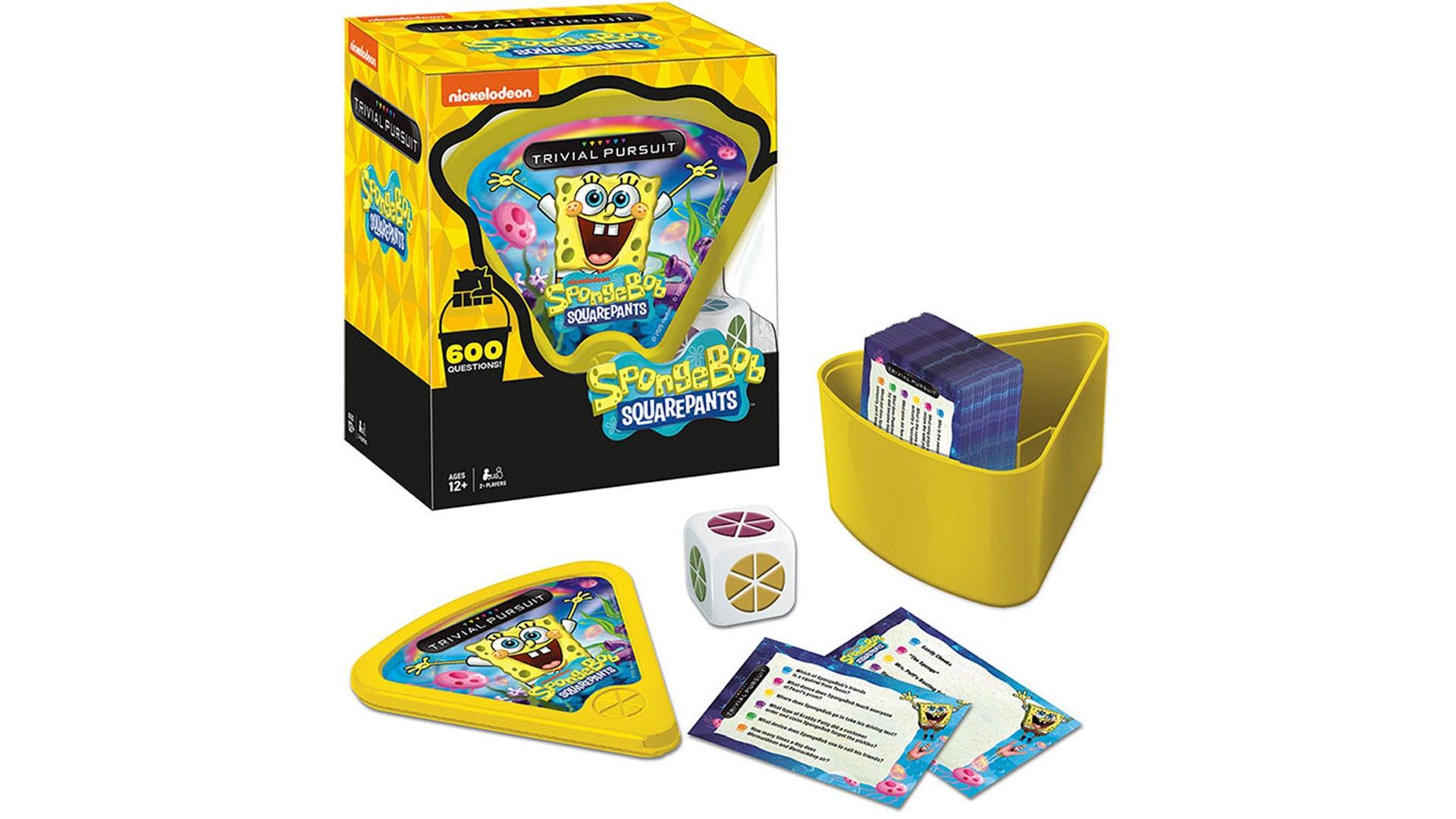 Trivial Pursuit: Spongebob Squarepants board game layout