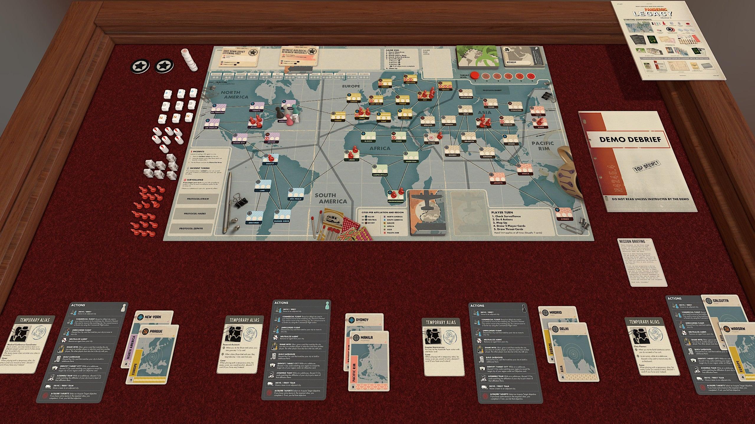 TTS mod screenshot 2 Pandemic Legacy: Season 0 demo