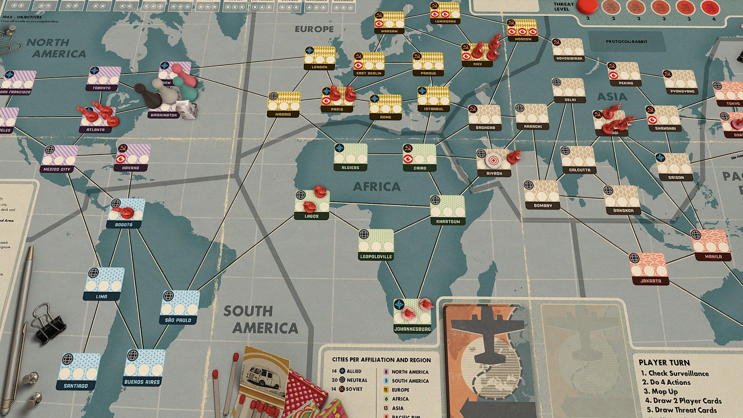 TTS mod screenshot Pandemic Legacy: Season 0 demo
