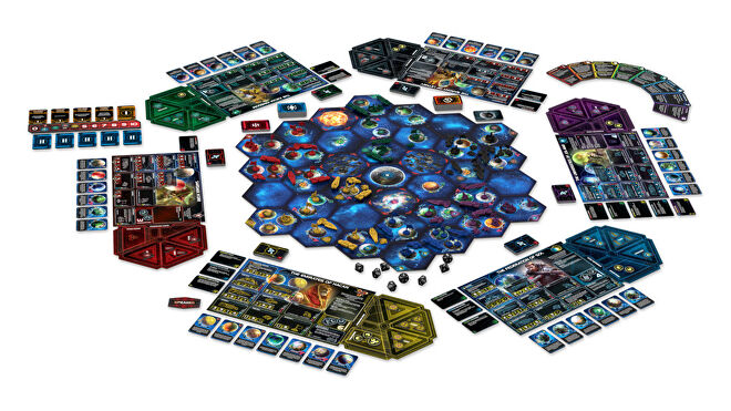 Twilight Imperium: Fourth Edition strategy board game gameplay layout