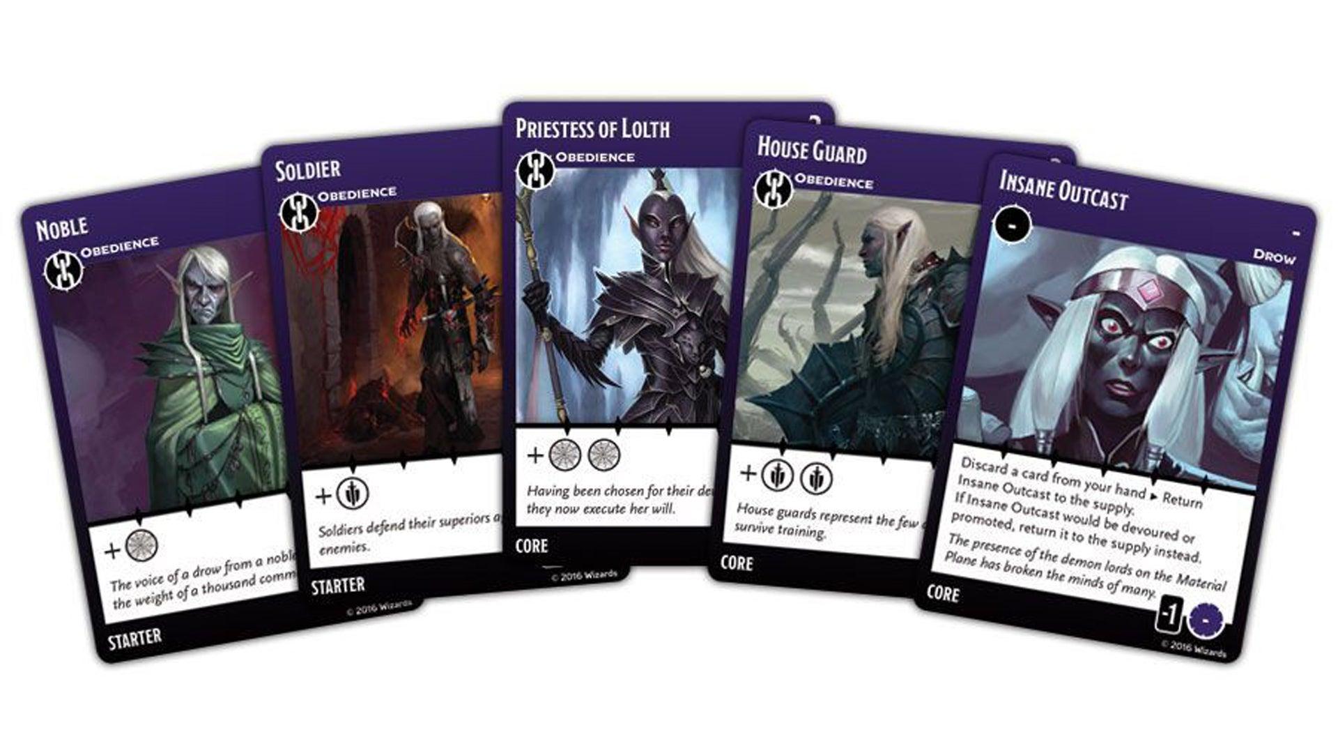 Tyrants of the Underdark board game card fan