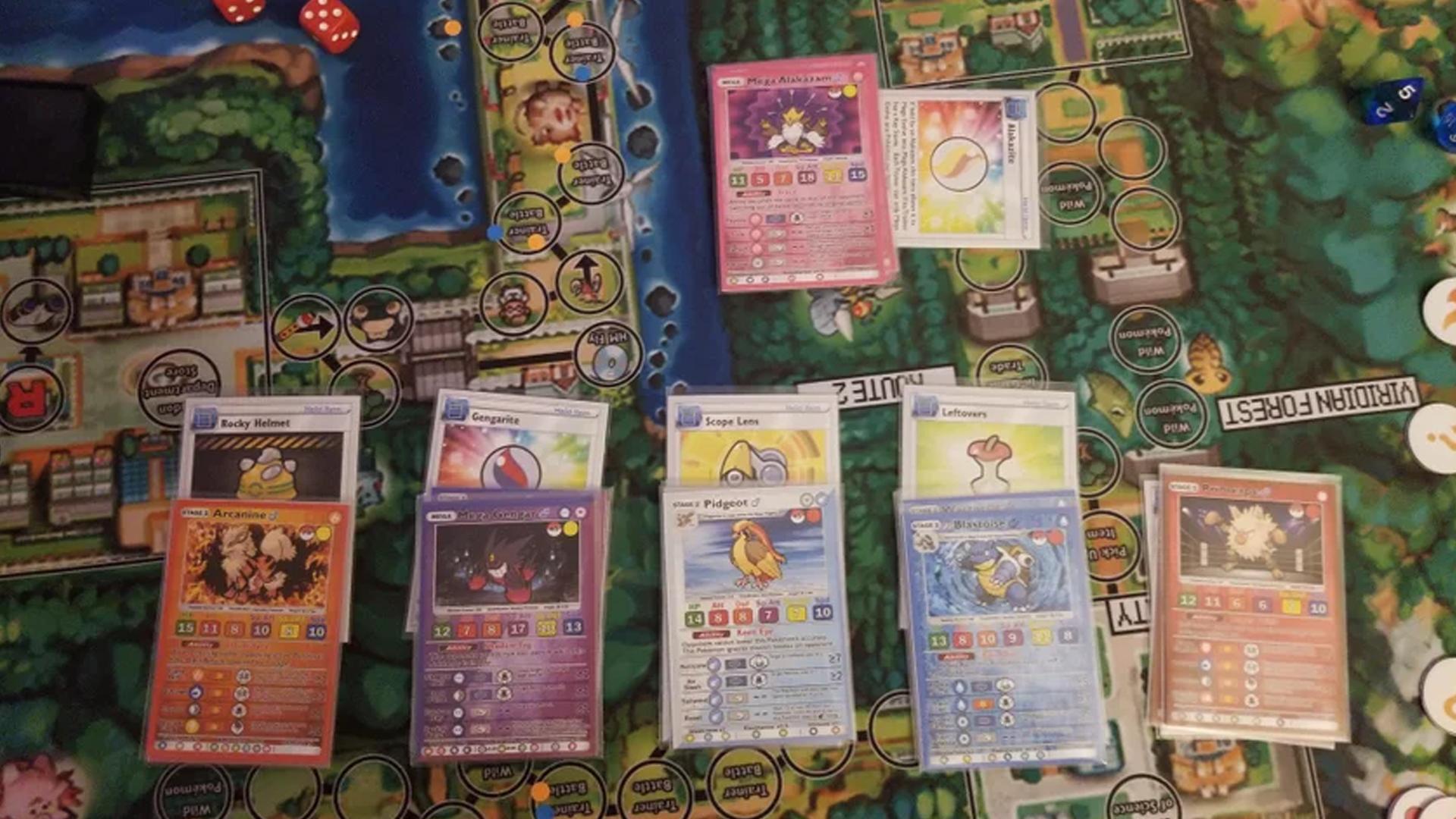 Ultimate Pokémon board game layout image
