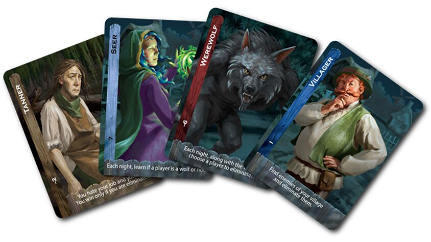 Ultimate Werewolf Extreme board game cards