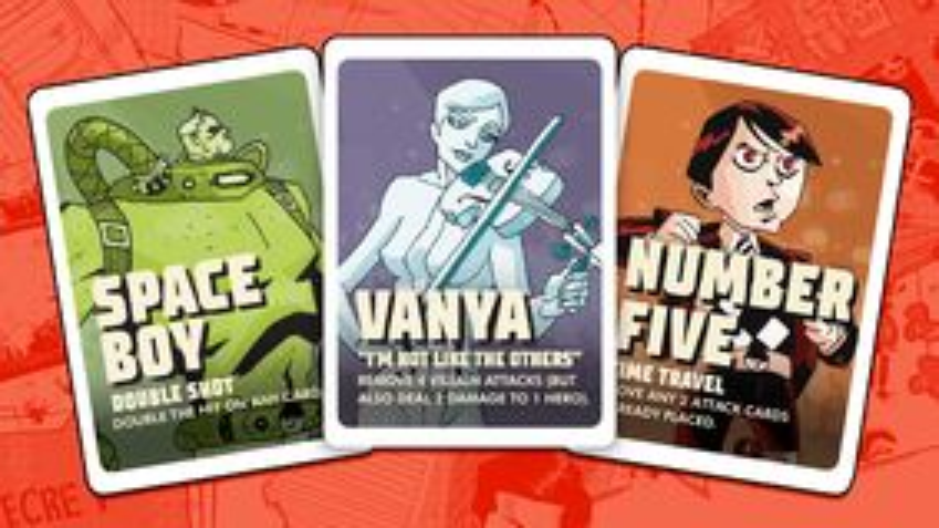 The Umbrella Academy board game cards