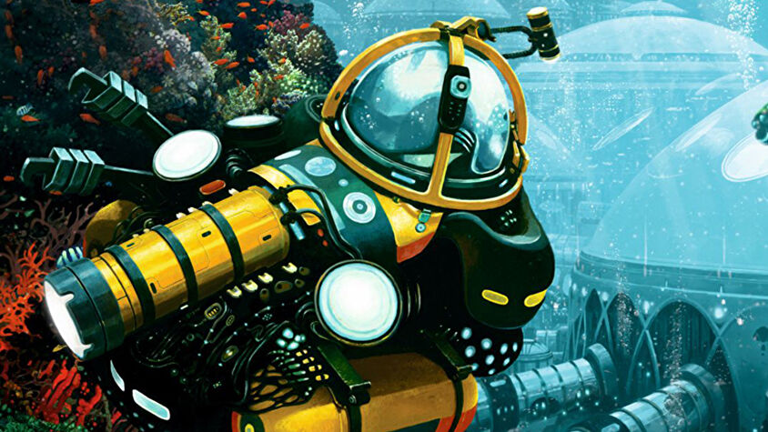 Underwater Cities board game box artwork
