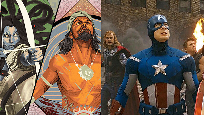 Unmatched Volume One artwork and Avengers screenshot