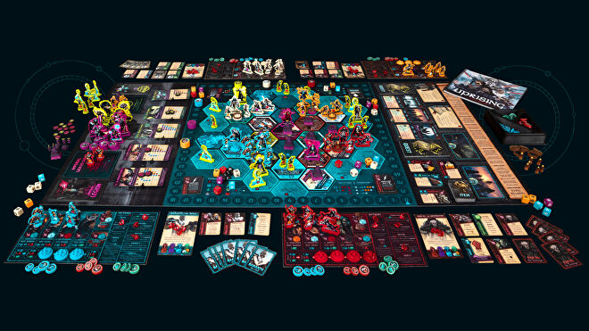 Uprising: Curse of the Last Emperor board game layout