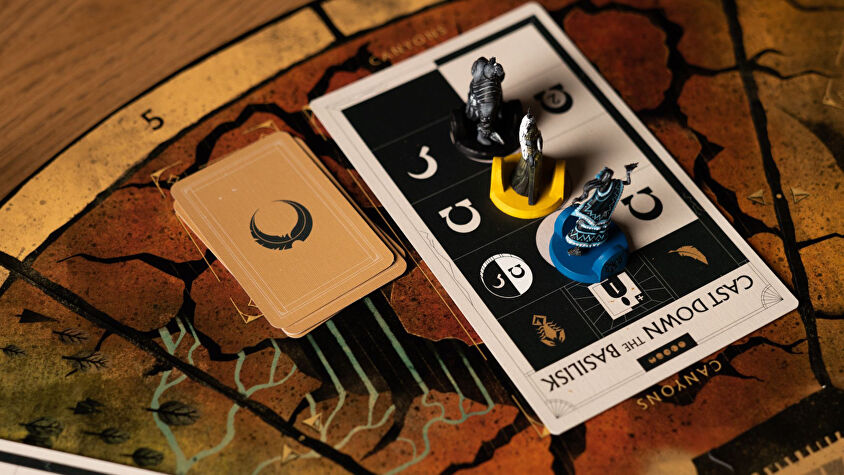 Veiled fate board game layout