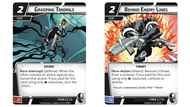 Venom Hero Pack cards two