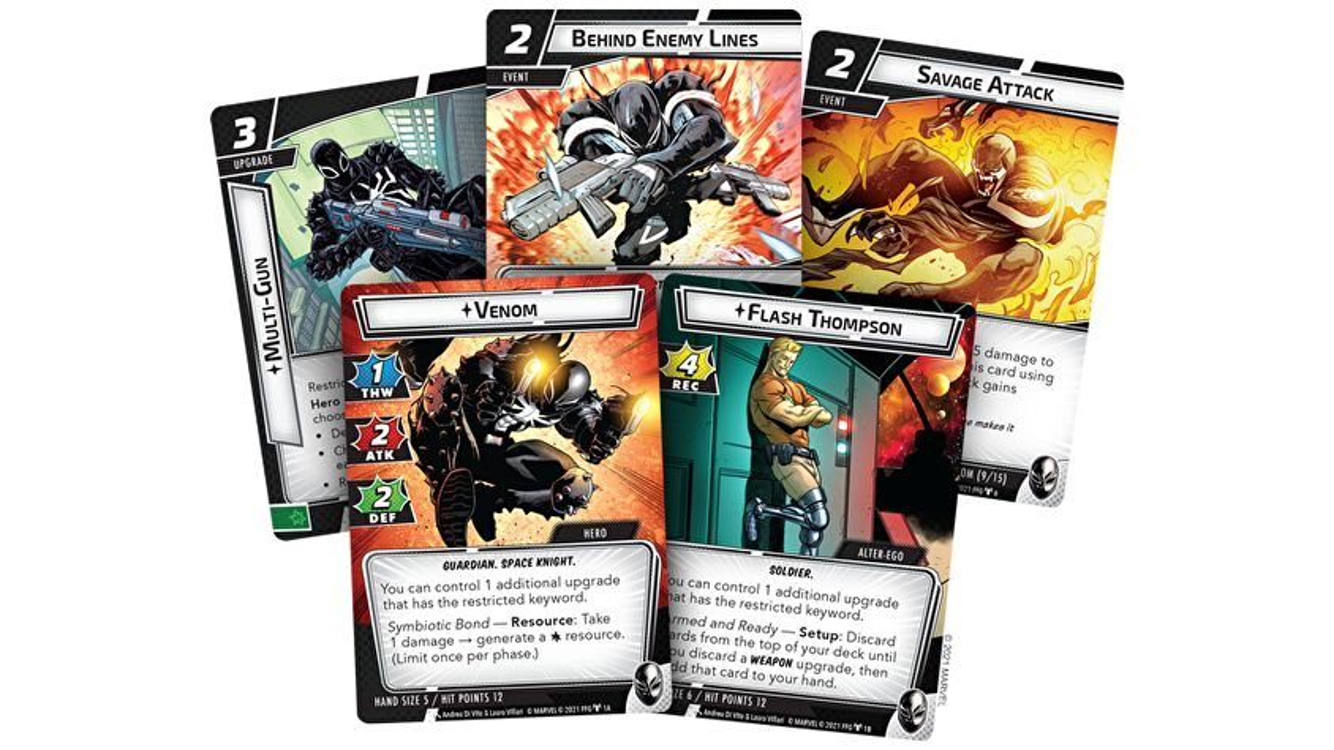 Venom Hero Pack Cards