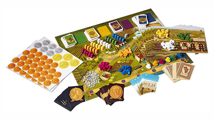Viticulture board game layout