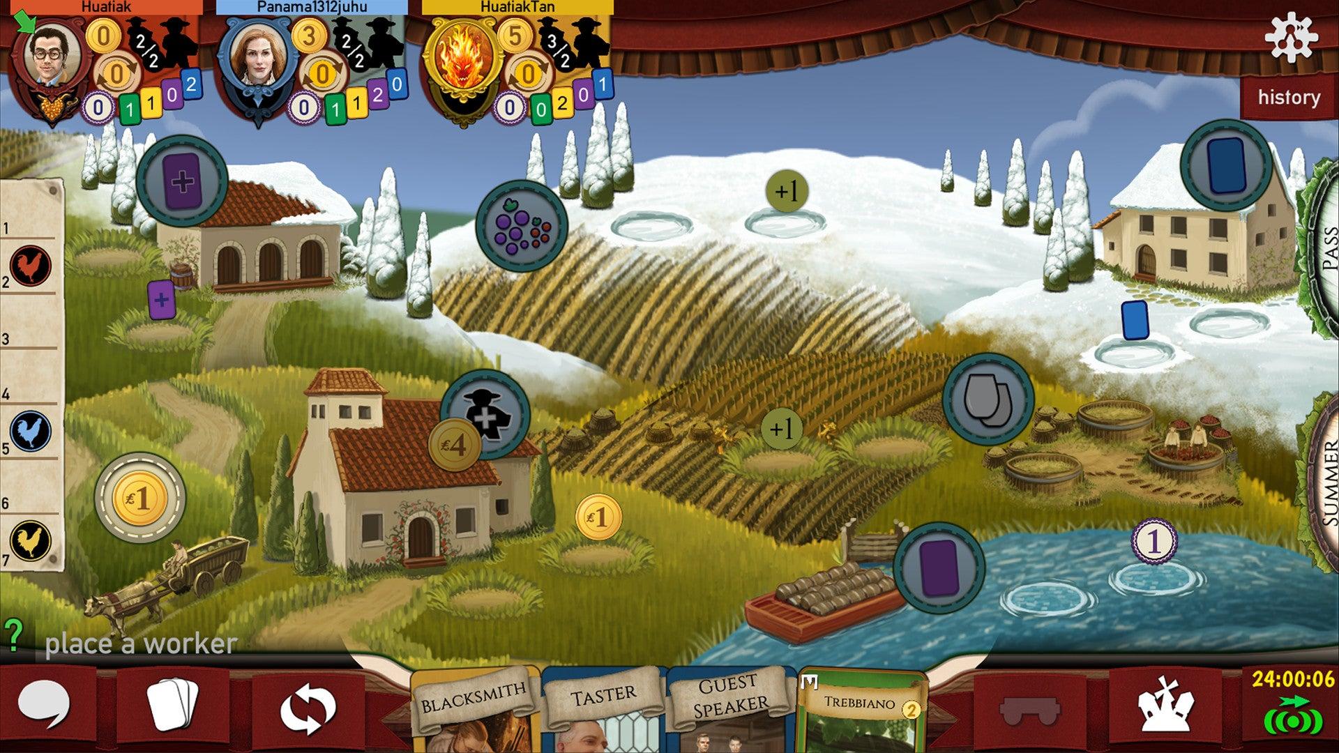 Viticulture digital board game screenshot 1