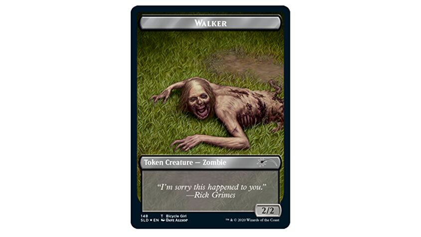 Walking Dead Secret Lair Magic: The Gathering card