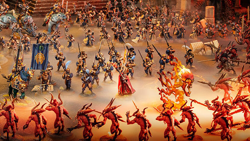 A Warhammer: Age of Sigmar battle.