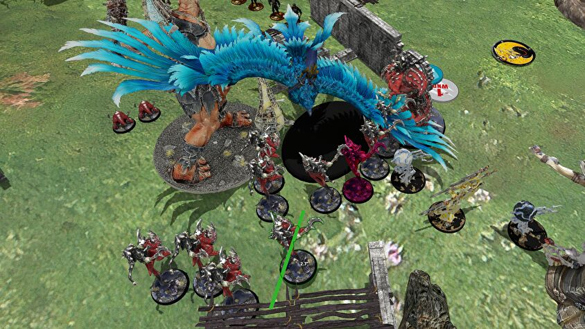A game of Warhammer: Age of Sigmar in Tabletop Simulator