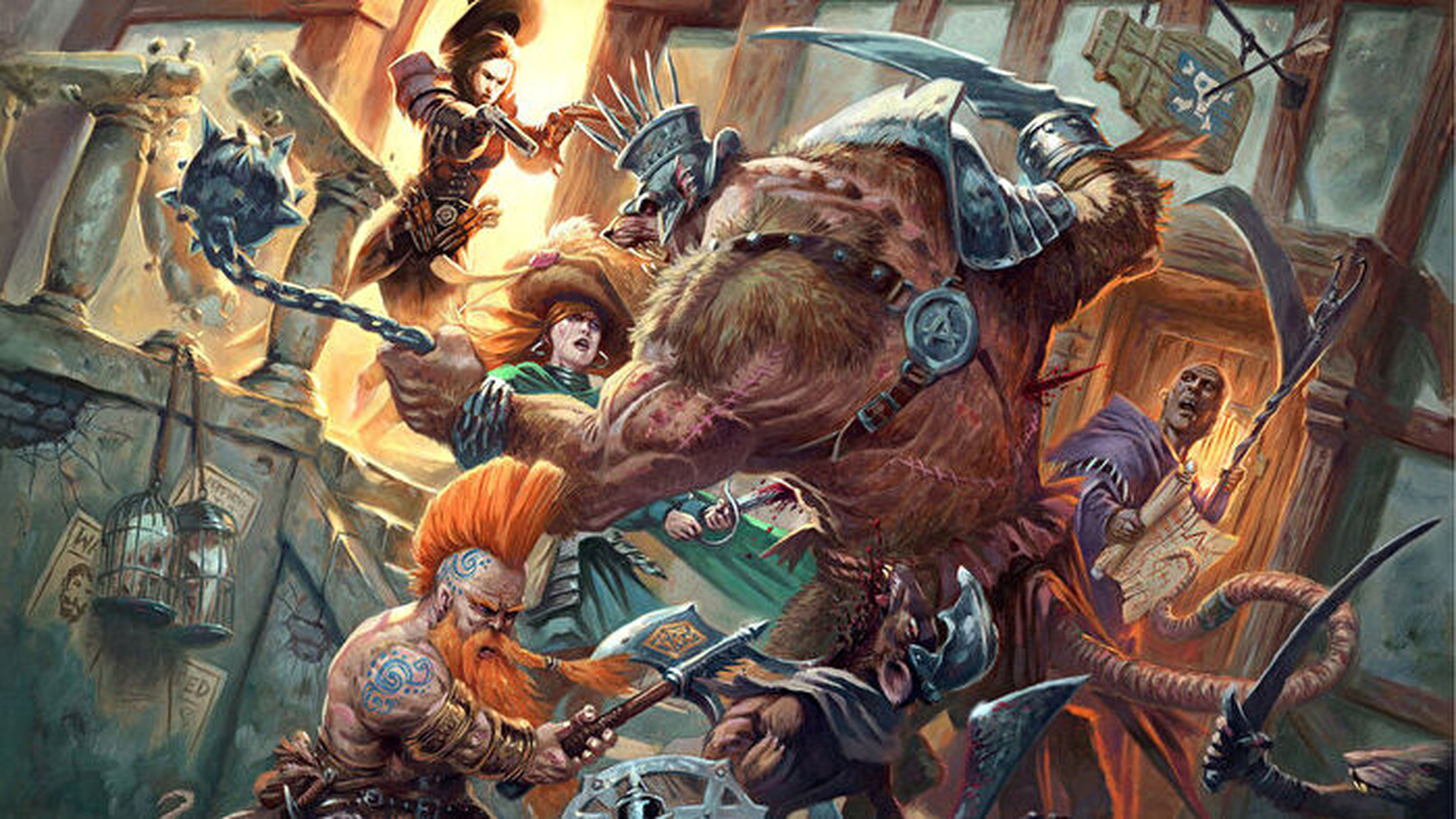 Warhammer Fantasy Roleplay RPG 4E core rulebook artwork