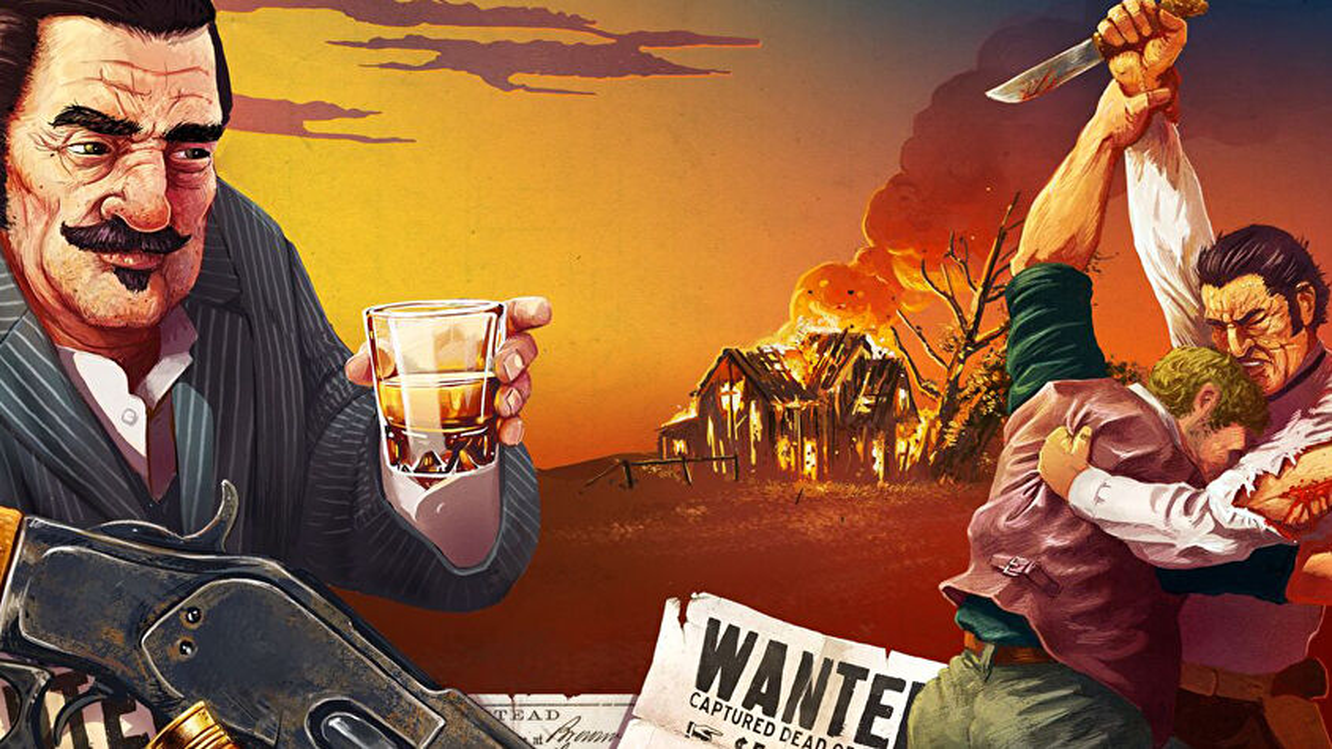 Western Legends: Blood Money board game artwork