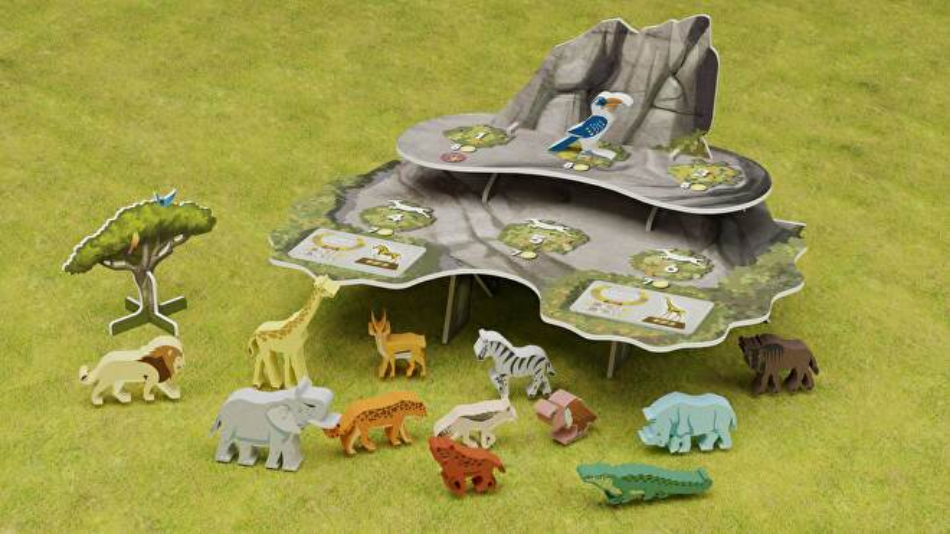Wild: Serengeti layout board