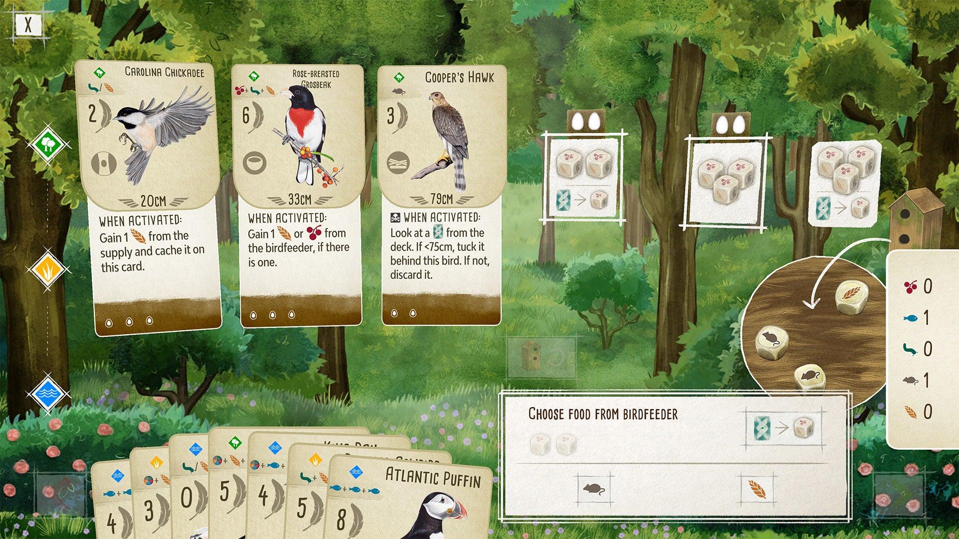 Wingspan digital board game version PC screenshot 1