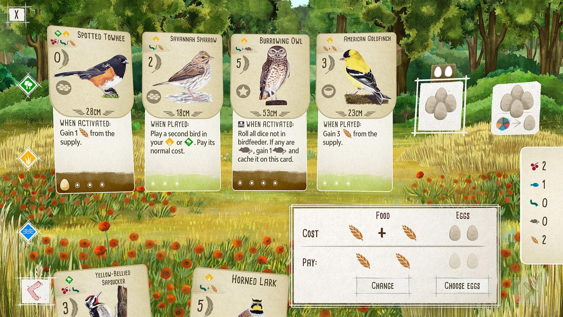 Wingspan digital board game version PC screenshot 2
