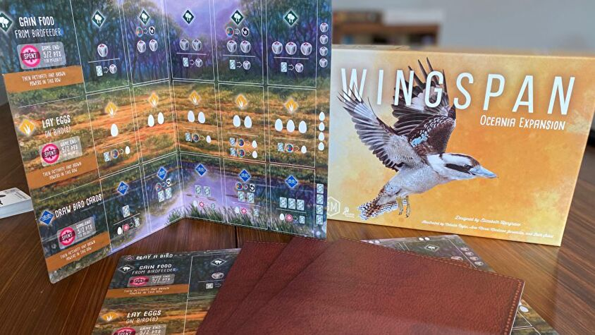 Wingspan Oceania Expansion player boards